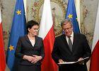 Spada zadowolenie z pracy prezydenta Komorowskiego. Co drugi Polak źle ocenia premier Kopacz. Sondaż TNS