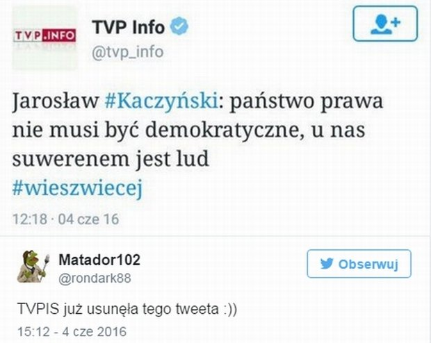 Tweet TVP Info