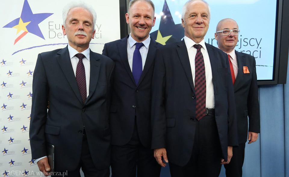 Założyciele koła poselskiego Europejscy Demokraci: Stanisław Huskowski, Jacek Protasiewicz, Stefan Niesiołowski i Michał Kamiński