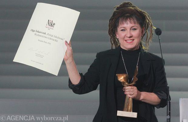 Olga Tokarczuk z nagrodą Nike