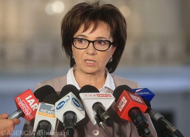 Rzeczniczka PiS Elżbieta Witek w Sejmie
