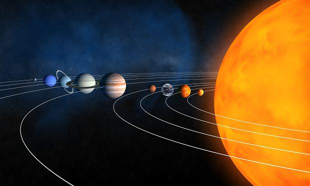 To nieprawda, Układ Słoneczny wcale tak nie wygląda.