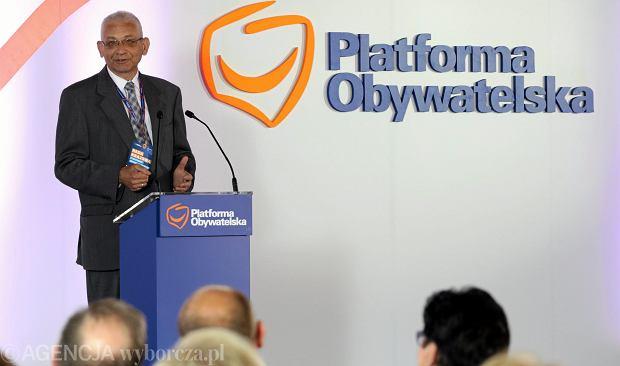 Ludwik Dorn podczas posiedzenia Rady Krajowej Platformy Obywatelskiej. 02.09.2015 Warszawa, hotel Novotel.