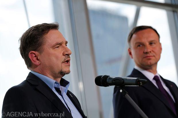 Piort Duda z Solidarności i prezydent Andrzej Duda