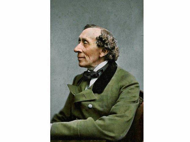Duński pisarz Hans Christian Andersen (rok 1869). Autor łącznie ok 150 baśni. Ich pierwszy zbiór -
