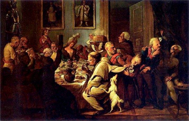 Uczta u Radziwiłłów, obraz Aleksandra Orłowskiego