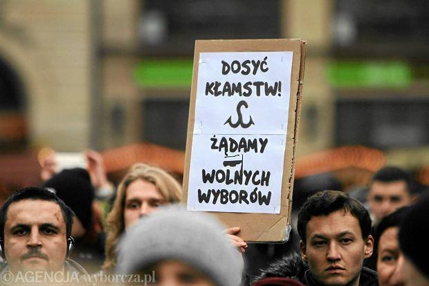 Protest zwolenników teorii o sfałszowaniu wyborów samorządowych, Wrocław, 22 listopada 2014