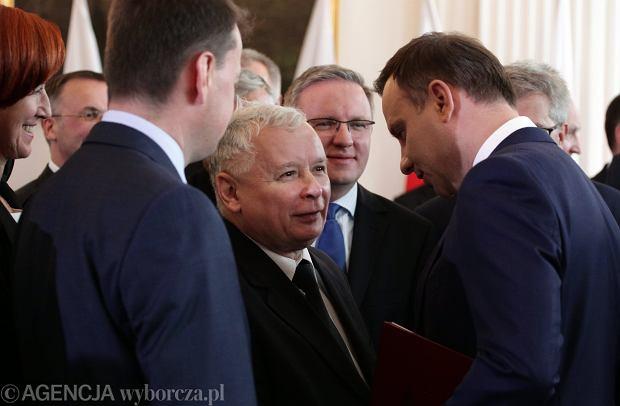 Andrzej Duda i Jarosław Kaczyński w dniu zaprzysiężenia