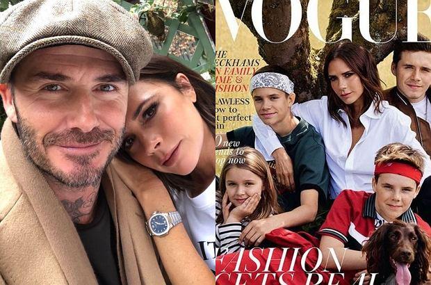 Zdjęcie numer 1 w galerii - Victoria Beckham z rodziną na okładce