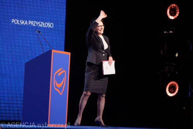 Ewa Kopacz na konwencji PO w Poznaniu