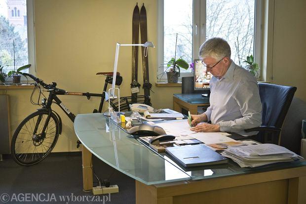 Jacek Jaśkowiak i jego rower