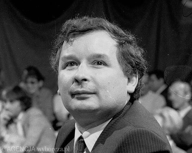 Jarosław Kaczyński w 1989 r.