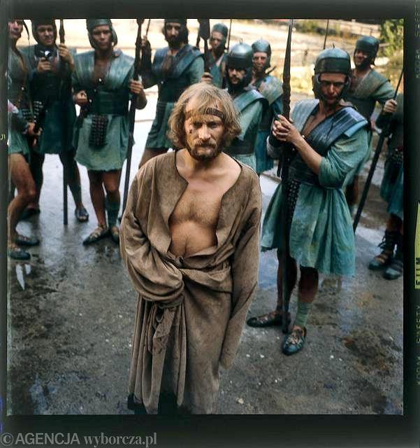 Wojciech Pszoniak jako Jezus Chrystus w filmie 'Piłat i inni' Andrzeja Wajdy