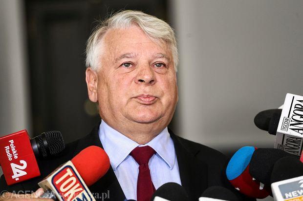 Briefing prasowy Bogdana Borusewicza na temat referendum (Warszawa, 28.08.2015)