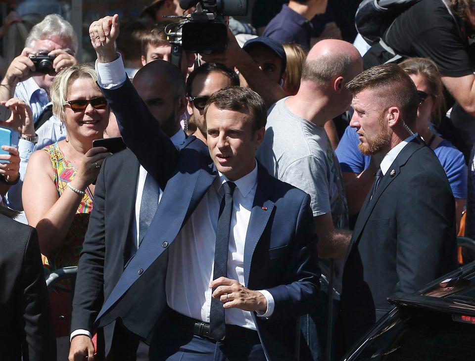 Prezydent Francji Emmanuel Macron, 11 czerwca 2017.