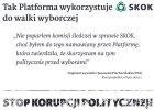 Tajemnicza akcja SKOK-ów. PiS płatnymi ogłoszeniami oskarża PO