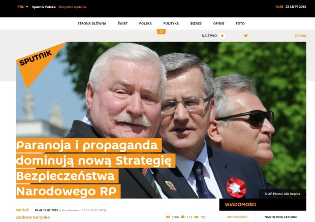 Artykuły na Sputnik News