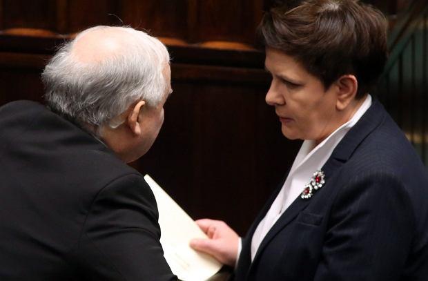 Prezes Kaczyński i premier Szydło w Sejmie