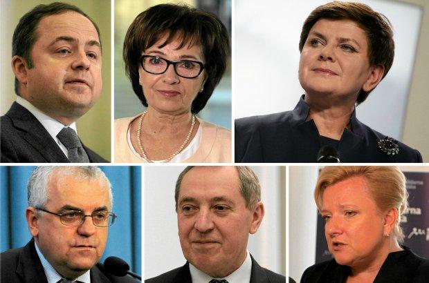 Konrad Szymański, Elżbieta Witek, Beata Szydło, Adam Lipiński, Henryk Kowalczyk, Beata Kempa