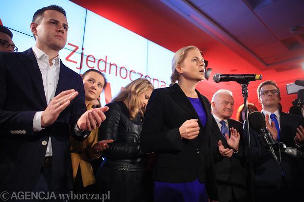 Barbara Nowacka na wieczorze wyborczym Zjednoczonej Lewicy