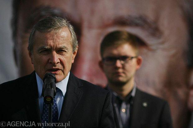 Prof. Piotr Gliński podczas kampanii wyborczej, Łódź, 1 września 2015