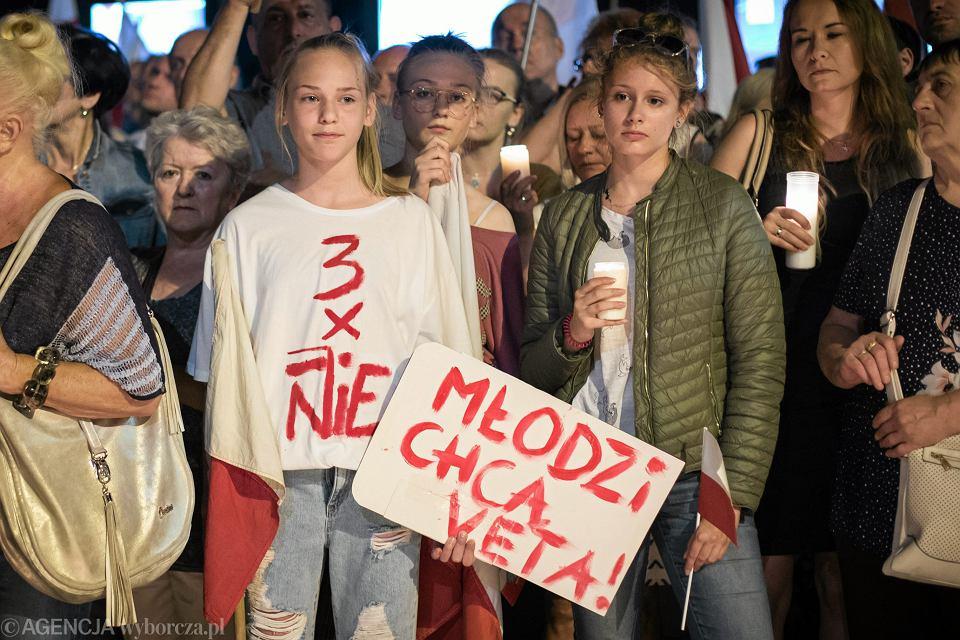 Uczestniczki piątego dnia protestu w Lublinie