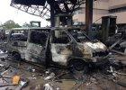 Pożar na stacji benzynowej w Akrze (Ghana)