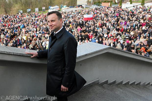 Andrzej Duda podczas Święta Bożego Miłosierdzia w seminarium w Łagiewnikach