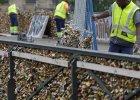 Kłódki zakochanych usuwane z mostu  Pont des Arts