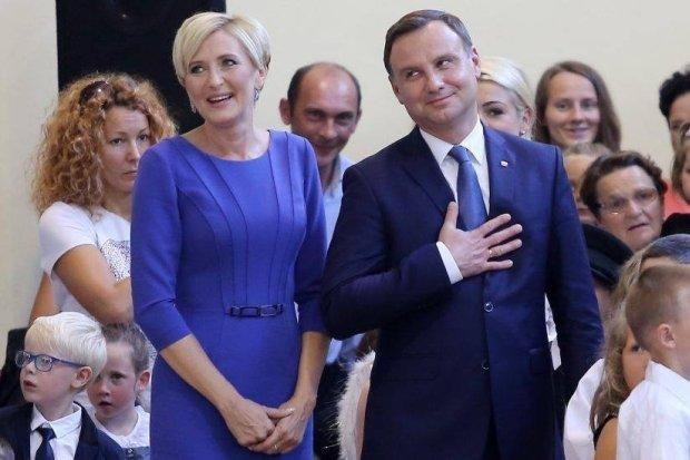 Para prezydencka podczas inauguracji roku szkolnego w Jastarni