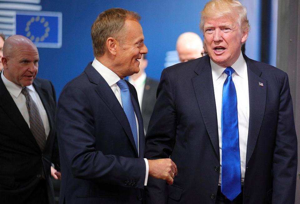 Donald Tusk i Donald Trump w Brukseli