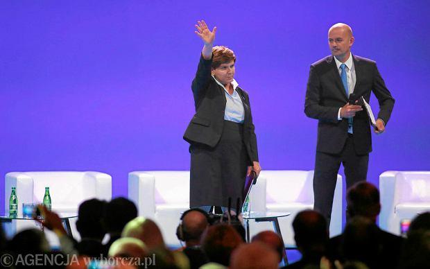 Wiceprezes PiS podczas kongresu PiS ''Myśląc Polska'' w Katowicach