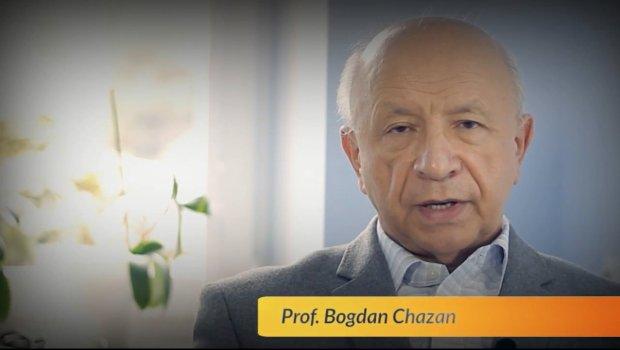 Kadr z nagrania prof. Bogdana Chazana