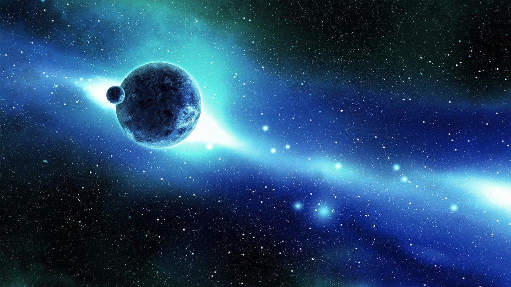 Ziemia i Księżyc w przestrzeni kosmicznej (fot. cemagraphics / iStockphoto.com)