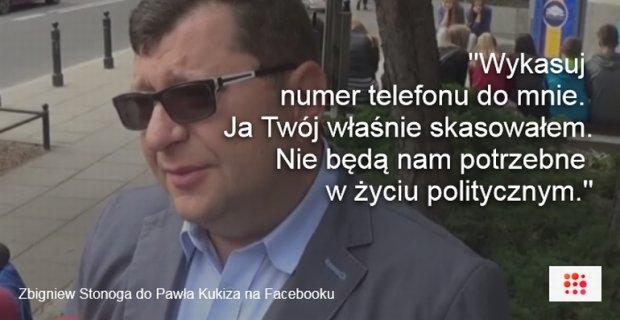 Zbigniew Stonoga ogłosił koniec współpracy z Pawłem Kukizem