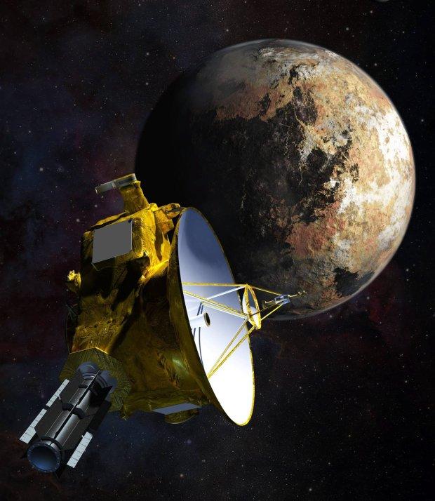 Sonda New Horizons zbliża się do Plutona - wizja artysty.