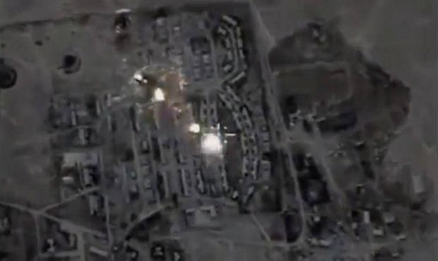 Zbombardowana przez Rosjan baza sił USA i Wielkiej Brytanii