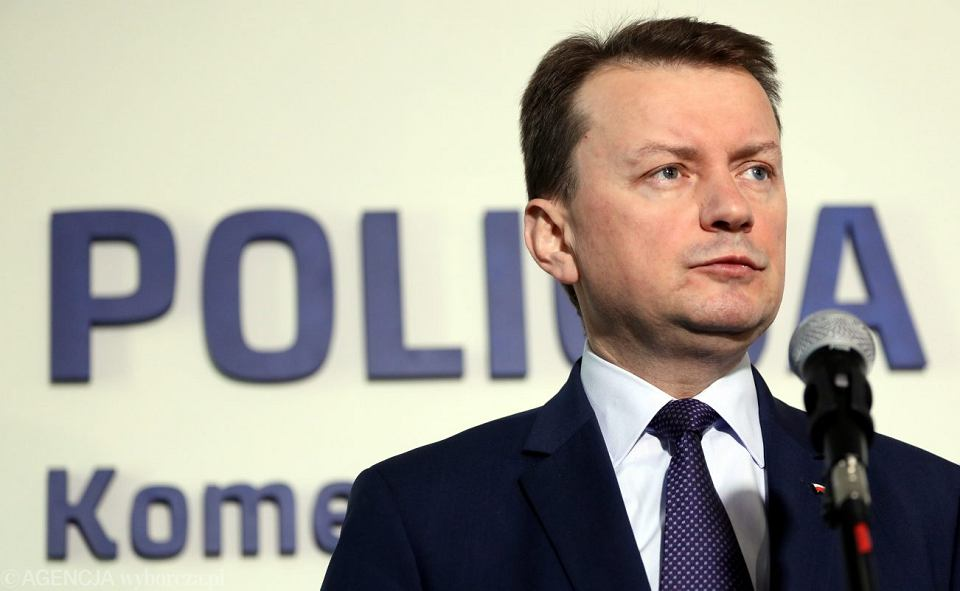 Minister spraw wewnętrznych Mariusz Błaszczak.