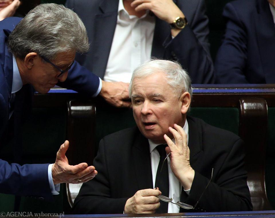 Nz. poseł Piotrowicz i jego partyjny zwierzchnik Jarosław kaczyński