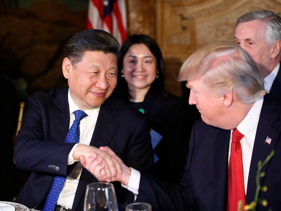 Prezydent Donald Trump i przywódca Chin Xi Jinping