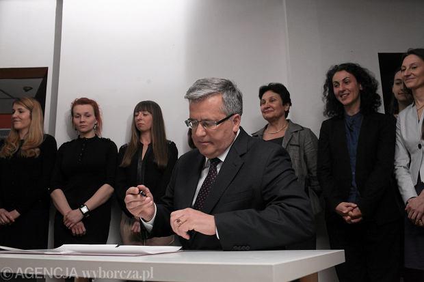 Prezydent RP podpisuje konwencję antyprzemocową