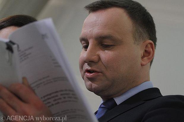 Poseł Andrzej Duda, styczeń 2014 r.