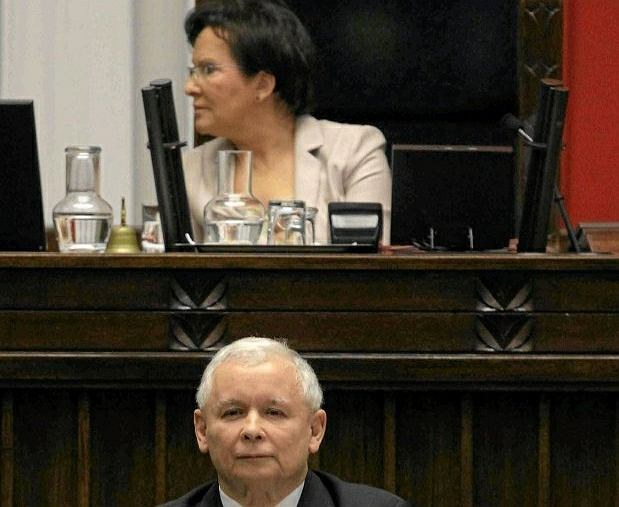 Ewa Kopacz i Jarosław Kaczyński