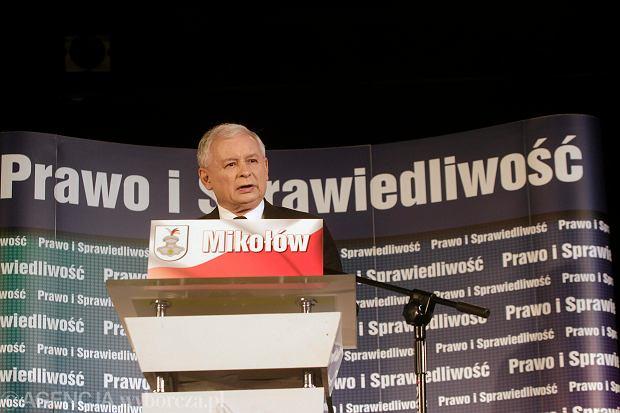 Jarosław Kaczyński w Mikołowie