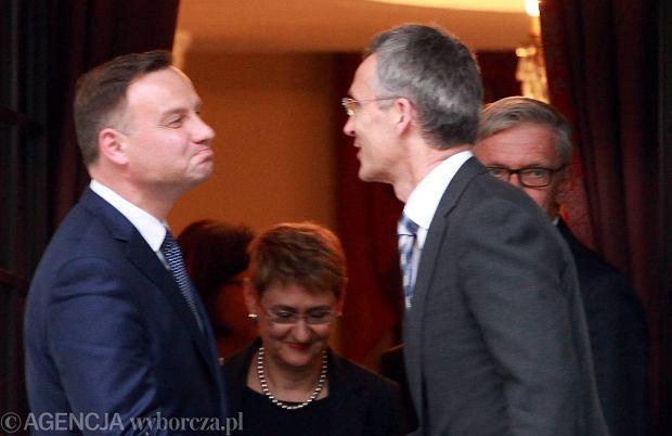 Warszawa, 18 czerwca 2015 r. Jeszcze jako prezydent elekt Andrzej Duda spotkał się z sekretarzem generalnym NATO Jensem Stoltenbergiem