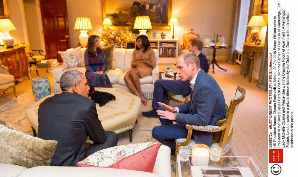 Barack Obama at Kensington Palace
