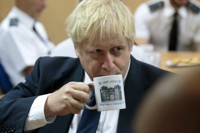 Nowy premier Wielkiej Brytanii Boris Johnson wizytuje więzienie w Leeds, 13 sierpnia 2019 r.