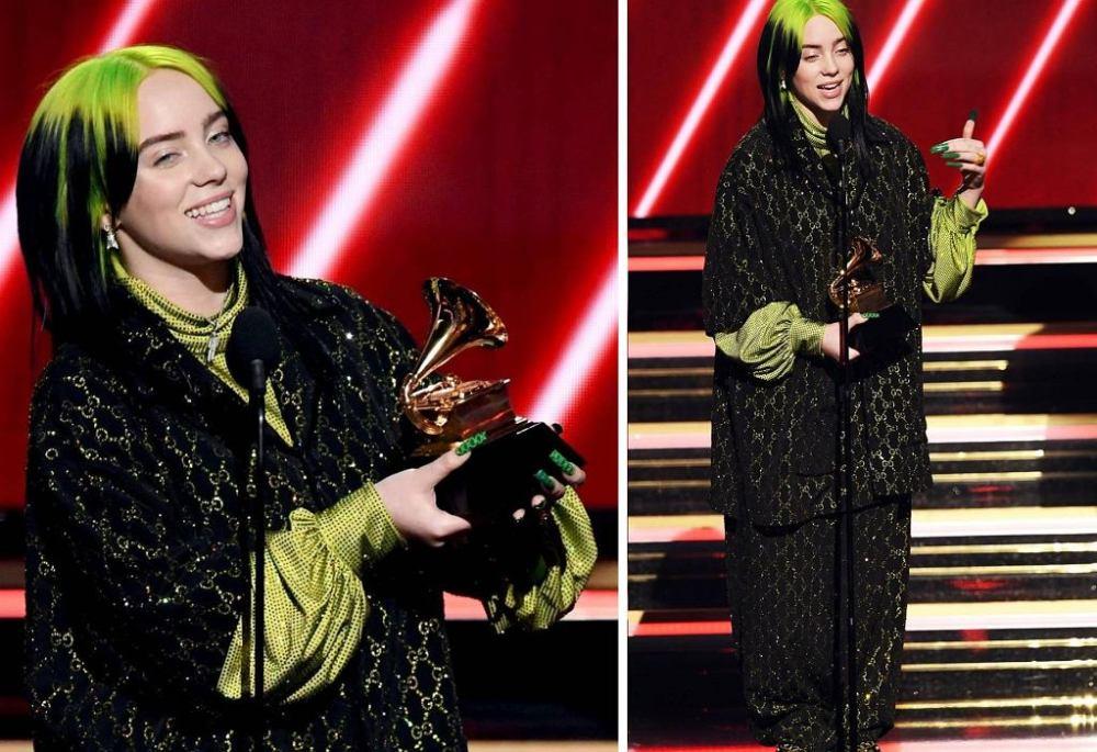 Billie Eilish at the Grammy 2020