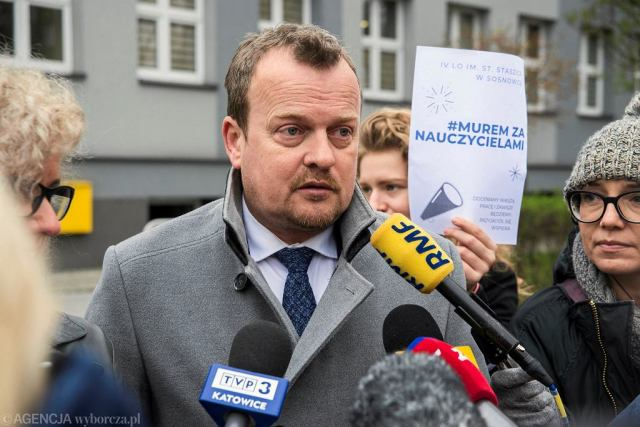 Prezydent Sosnowca Arkadiusz Chęciński