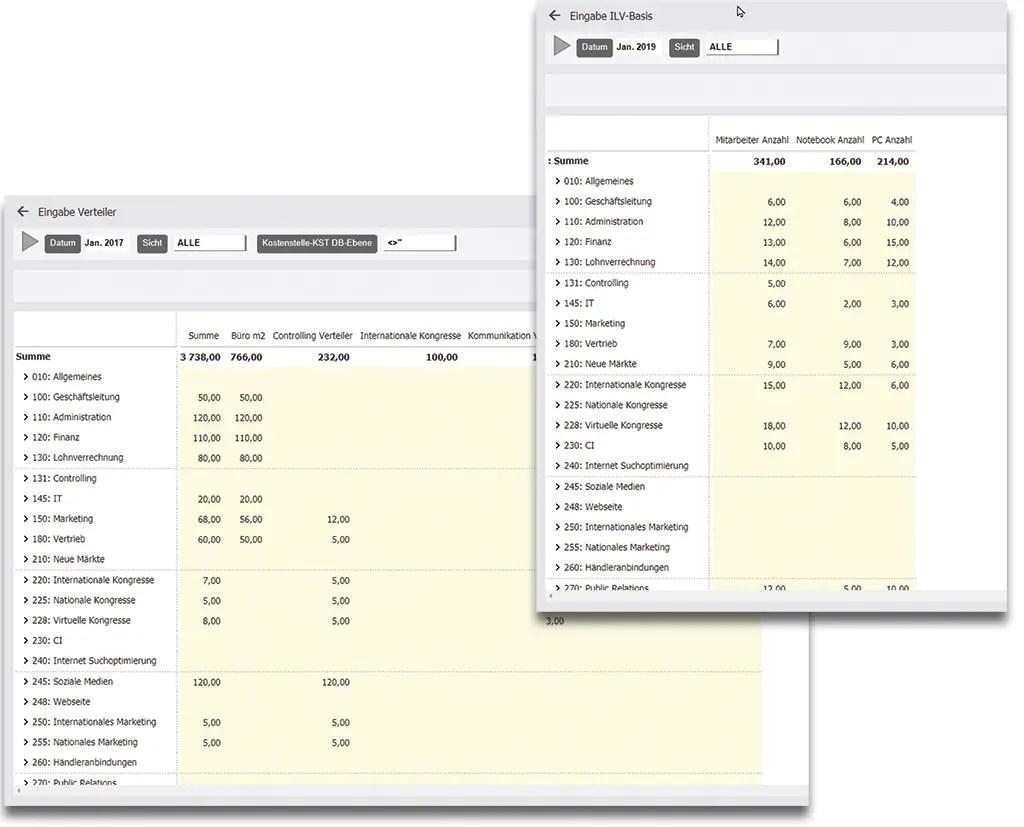 BAB Betriebsabrechnungsbogen inklusive Verteilung Schlüssel und Umlage mit Dynamics 365 Business Central